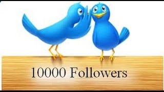 Twitter Followers 10,000 NO HACK