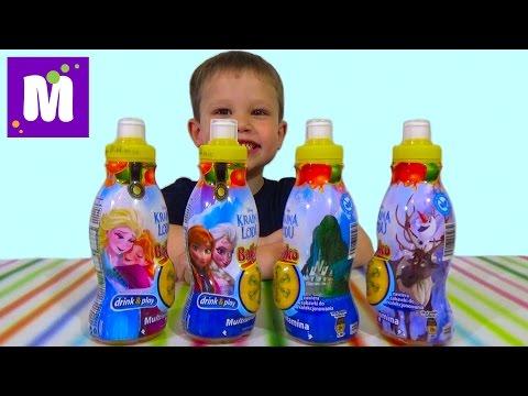 Холодное сердце Дисней сок с сюрпризом игрушкой распаковка