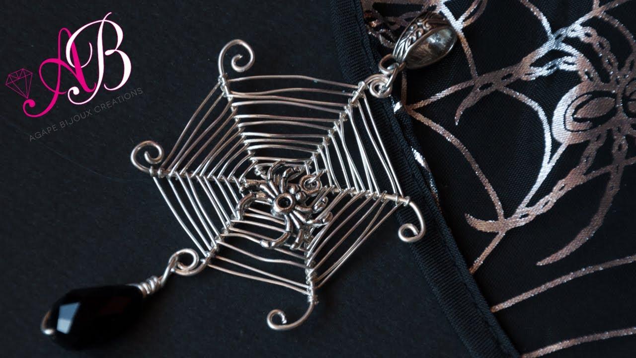 DIY Ragnatela Wire Tutorial Halloween (Wire Spider Web DIY Tutorial ...