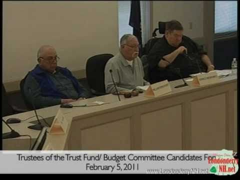Londonderry Budget Committee, Leach Library and Trust Fund Trustee candidate forum 2011