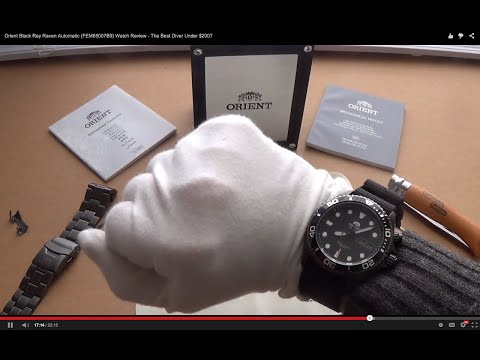 Orient Black Ray Raven Automatic (FEM65007B9) Watch Review - The Best Diver Under $200?