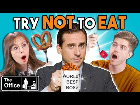 Try Not To Eat Challenge The Office Foods | People Vs. Food