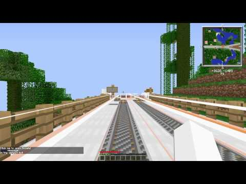 """Nazca Railway (Minecraft) """"Central Line"""" Testing Auto-launching System"""