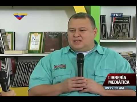 Ministro de Cultura, Reinaldo Iturriza, en La Librería Mediática sobre FILVEN 2015