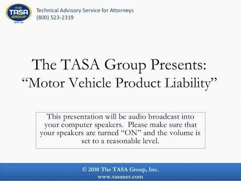 Motor Vehicle Product Liability