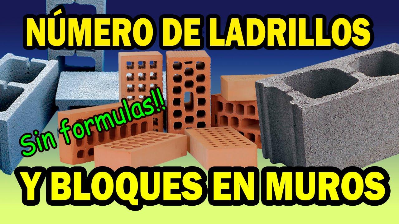 como calcular el número de ladrillos y bloques de concreto