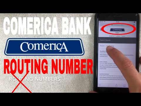 ✅  Comerica Bank ABA Routing Number - Where Is It? 🔴