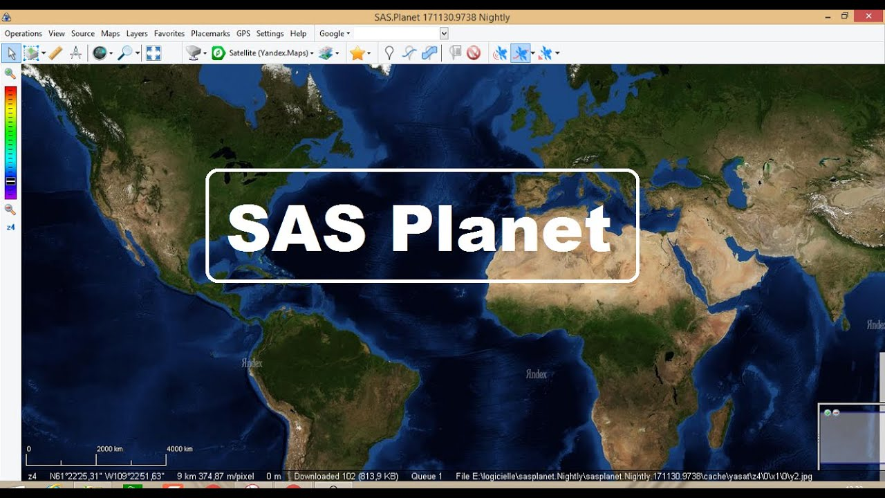 SAS Planet (Latest Version) To Download Sat Images With High Resolution