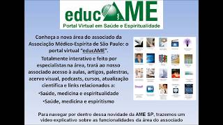 EducAME - Portal virtual em Saúde e Espiritualidade - Associação Médico-espírita de São Paulo