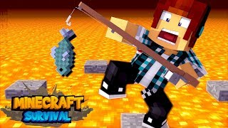 Minecraft Survival #35 - A PESCARIA MAIS DIFÍCIL DO MINECRAFT !!