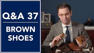 Are Brown Shoes Right For You? 👞 Q&A 37 | Kirby Allison