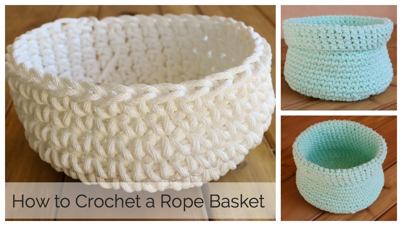 How To Crochet A Basket Youtube