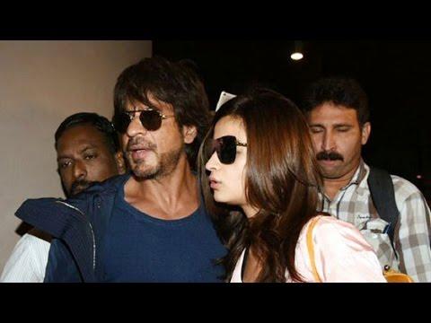 Farah Khan, Shahrukh Khan & Alia Bhatt Spotted at Airport| Alia Bhatt and Shahrukh Khan Dear Zindagi