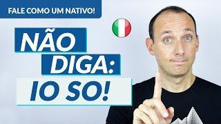 Os ERROS que NÃO te DEIXAM FALAR COMO UM ITALIANO NATIVO I Vídeo n.1 I Vou Aprender Italiano