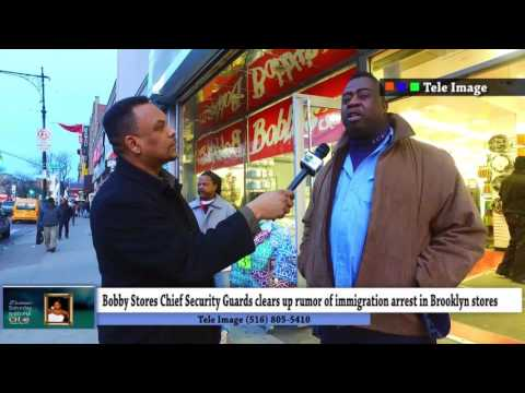 DEPORTATION RUMORS IN BROOKLYN -  Store security Guard clears up rumors of immigration raid arrest