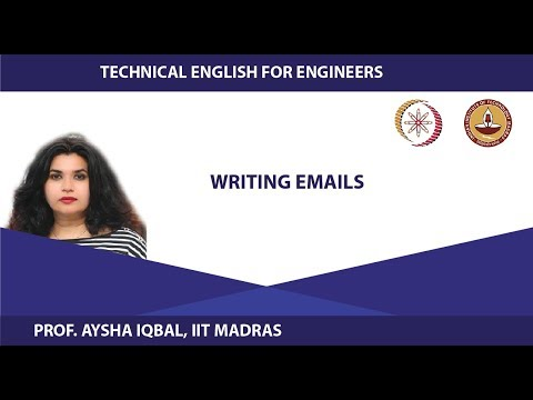 Lecture 25 - Writing Emails