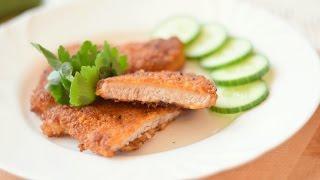 Свинина в кляре. Рецепт приготовления мяса / Pork in batter