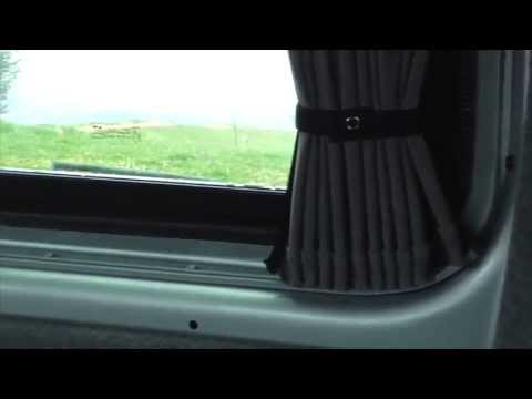 vanx curtains vw t5 youtube