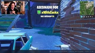 WithZack mata a *elrubius* en el torneo de youtubers de fortnite