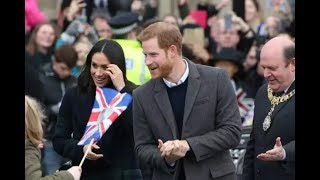 Prince Harry and Ms Meghan Markle have arrived at Edinburgh Castle Scotland Feb/13/2018