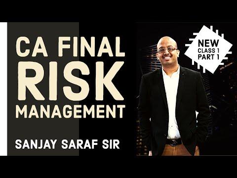 Risk Management | New Class 1 | Part 1 | CA Final | Sanjay Saraf Sir | SSEI.