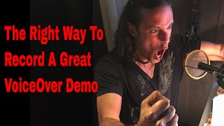 Recording A TV Promo Voiceover Demo with Stew Herrera | Voice Acting | How To | Demo Reel