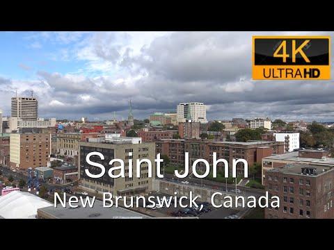 Saint John, New Brunswick, Canada in 4K