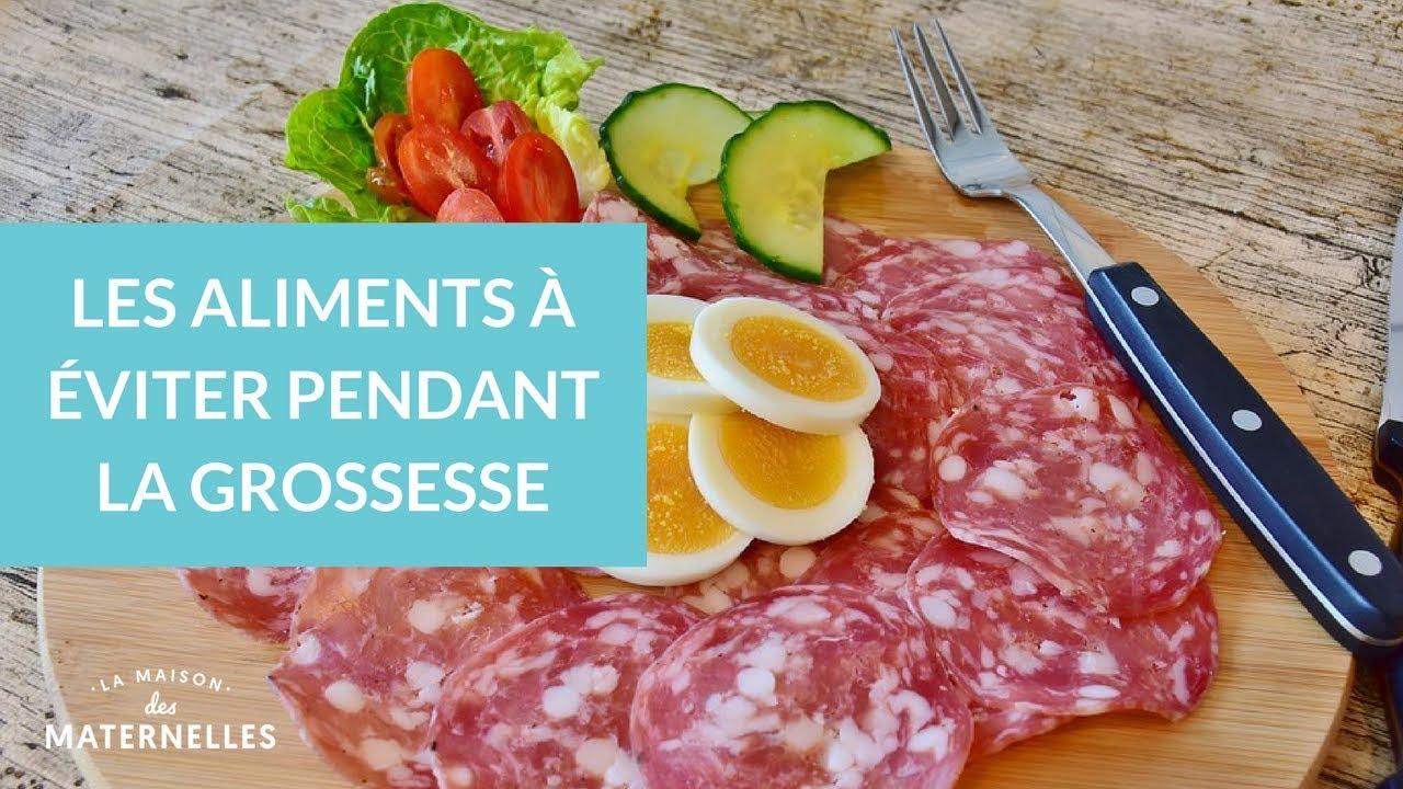 aliment a eviter debut de grossesse