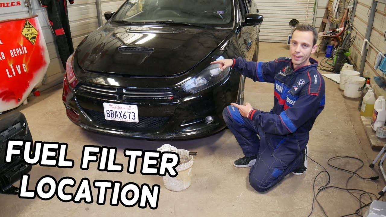 [SCHEMATICS_4ER]  FUEL FILTER LOCATION REPLACEMENT DODGE DART, CHRYSLER 200. WHERE IS THE FUEL  FILTER - YouTube | Dodge Dart Fuel Filter |  | YouTube