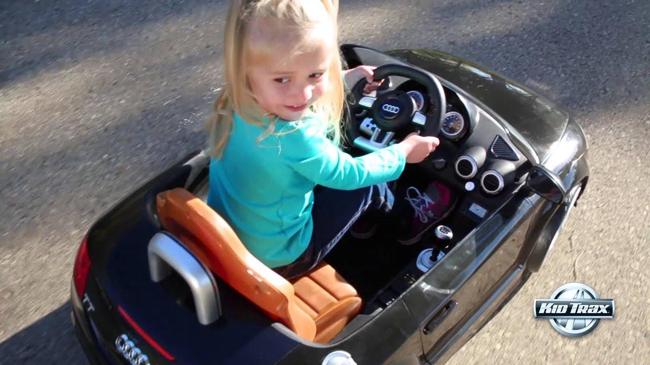 Kid Trax Volt Audi TT Roadster YouTube - Audi 6v car
