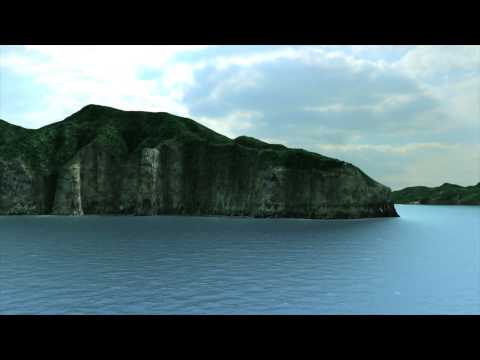 Nishinoshima, Oki Islands CG Terrain Images~Oki Islands Global Geopark, Japan~