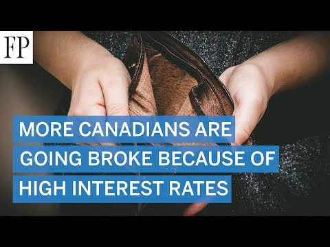 More Canadians Are Going Broke Because Of High Interest Rates