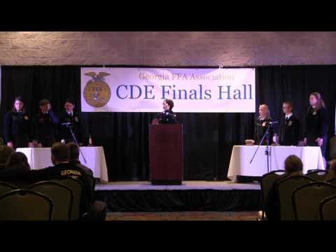 Conduct of Chapter Meetings- State Finals, 2017