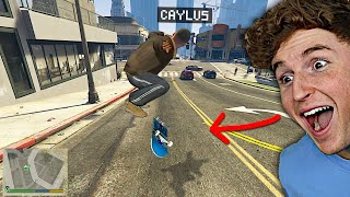 Playing GTA 5 As A Professional SKATEBOARDER! (GTA 5 Mods)