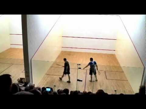 Squash: Mayfair Exhibition Fred Reid vs Thierry Lincou