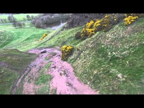 Arthur Seat Edinburgh by drone