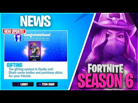 New Gifting System In Season 6 Release Date Fortnite How To Gift