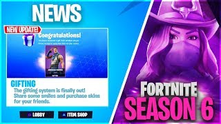 *NEW* GIFTING SYSTEM in SEASON 6 RELEASE DATE! (Fortnite: How To Gift Skins)