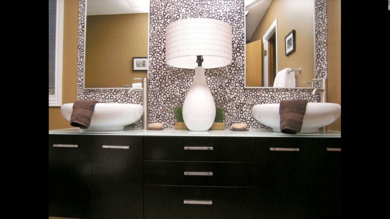 Bathroom double sink design ideas - YouTube