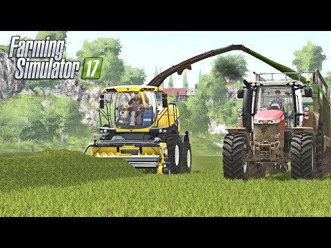 HUGE GRASS SWATHS | Multiplayer Hagenstedt Farming Simulator 17 | Ep3