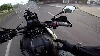 NC750X - Óculos, jaquetinha biker, caldo de cana e pastel de carne.
