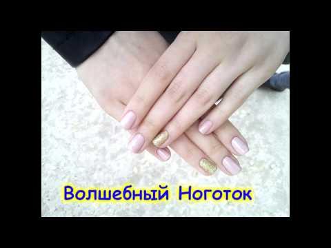Зимний дизайн на ногтях при помощи фольги и гель-краски