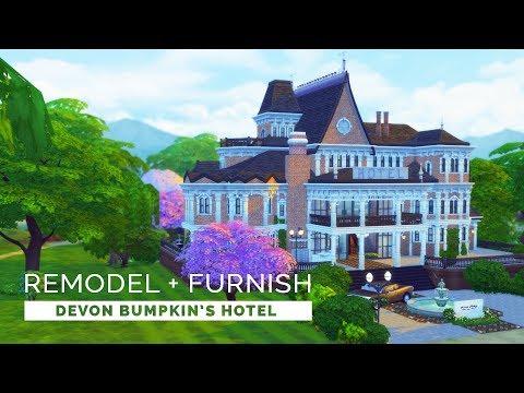 Sims 4  |  Speedbuild  |  Devon Bumpkin's Hotel Remodel