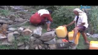 نقل الماء جوا في اليمن بمحافظة صنعاء