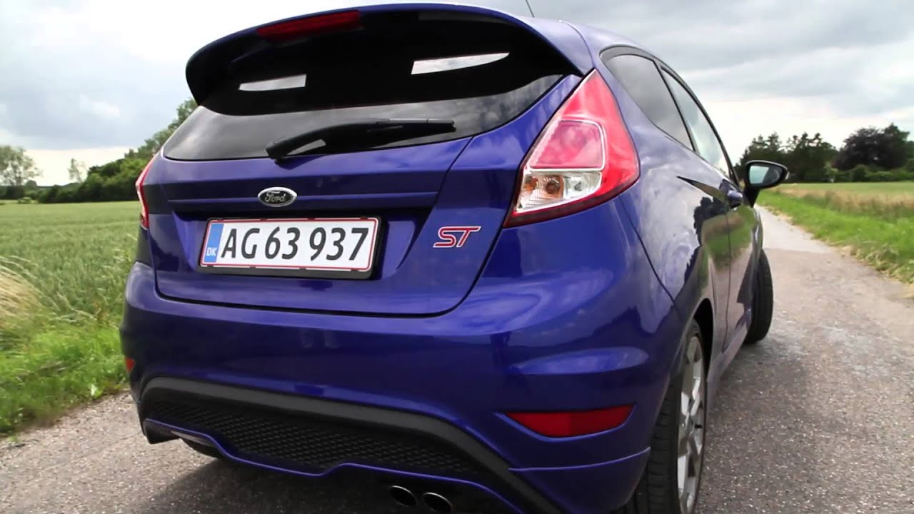 Blue Ford Focus St >> Bil-TV: FIESTA ST - Performance Blue - YouTube