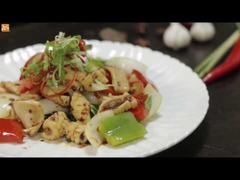Hướng Dẫn Làm Món Mực Xào Sa Tế | Học Nấu Ăn | Hướng Nghiệp Á Âu