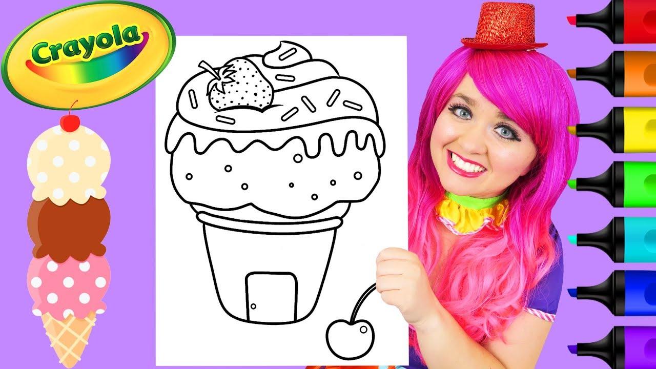 Coloring Ice Cream Cone House Crayola Coloring Page