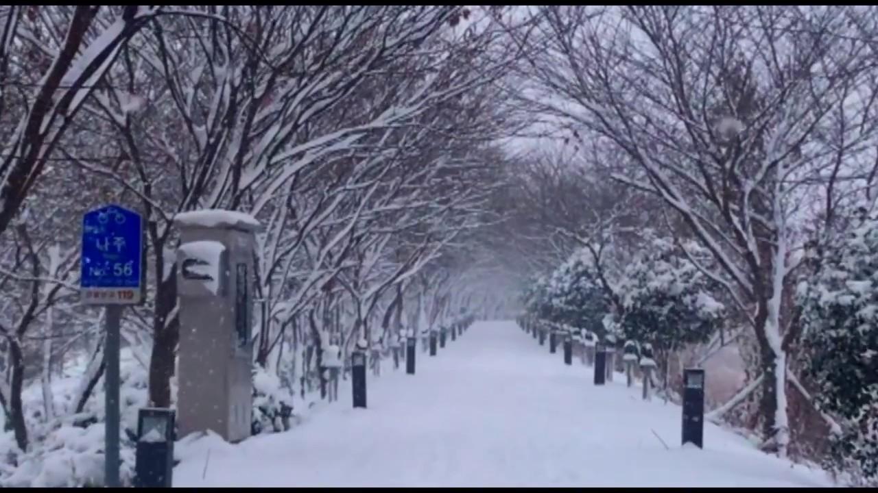snow in Korea 2018 - YouTube