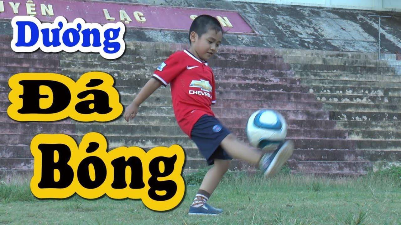 Bé Dương chơi bóng đá siêu hài, Kênh Em Bé ♥