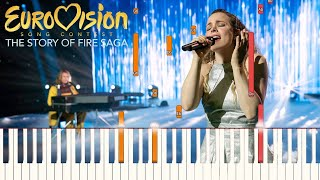 Husavik - Eurovision Song Contest: The Story of Fire Saga | Piano Tutorial (Synthesia)